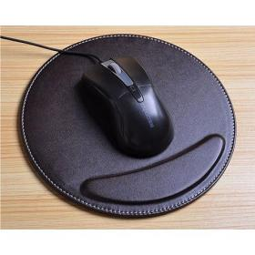 Round  Leather wrist rest  mouse pad mice pad