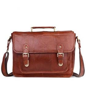 Fashion casual business leather briefcase for men