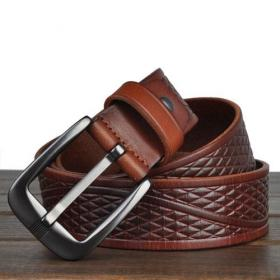 Fashion leisure belt with genuine leather pin buckle